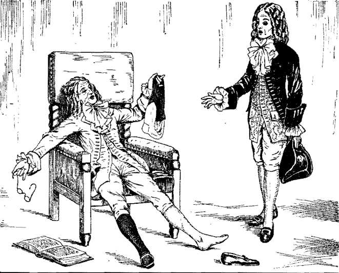 Руками он проделывал совершенно непонятные манипуляции c черным и белым чулком